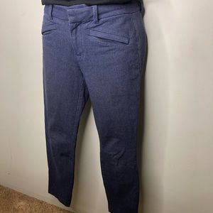 Gap skinny ankle stretchy railroad stripe pants